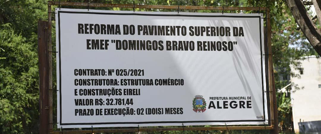 """Reforma do Pavimento Superior da EMEF """"Domingos Bravo Reinoso"""""""