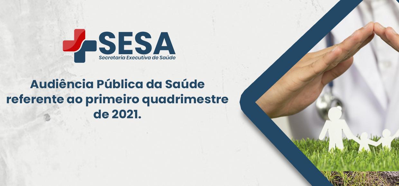 Audiência Pública da Saúde referente ao primeiro quadrimestre de 2021