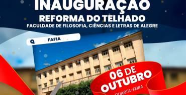Inauguração da Reforma do Telhado da FAFIA